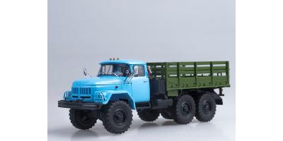 Масштабная модель ЗИЛ-131 бортовой (6x6) голубой/зелёный