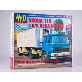 Сборная модель Skoda-110 с полуприцепом ALKA N13CH
