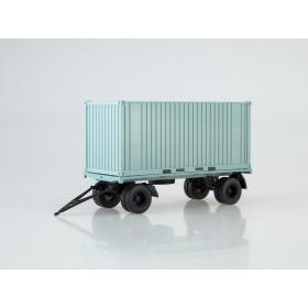 Масштабная модель Прицеп ГКБ-8350 с контейнером