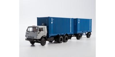Масштабная модель КАМАЗ-53212 контейнеровоз с прицепом ГКБ-8350