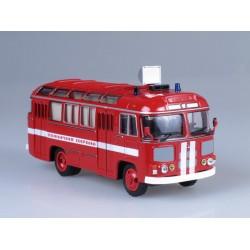 Масштабная модель ПАЗ-672М пожарный штабной