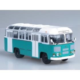 Масштабная модель ПАЗ-672М (бело-зелёный)