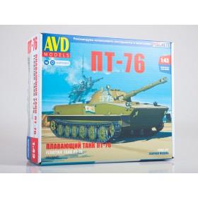 Сборная модель Плавающий танк ПТ-76
