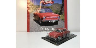 Автолегенды СССР и Соцстран №188 ŠKODA-100 (Чехословакия) 1969—1977 гг. красный