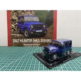 Автолегенды СССР и Соцстран №280 UAZ HUNTER(УАЗ-315195) с 2003 года тёмно-синий