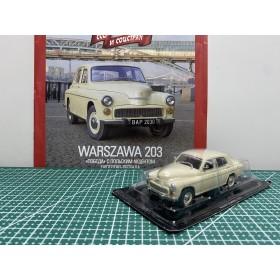 Автолегенды СССР и Соцстран №154 WARSZAWA 203 (Польша) бежевый