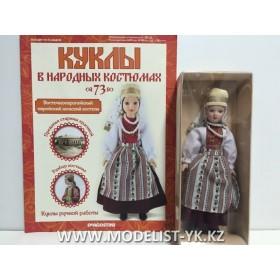 Куклы в народных костюмах №73 Кукла в восточноевропейском еврейском женском костюме