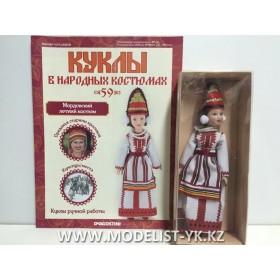 Куклы в народных костюмах №59 Кукла в мордовском летнем костюме