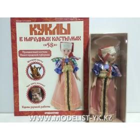 Куклы в народных костюмах №58 Кукла в праздничном костюме Нижегородской губернии