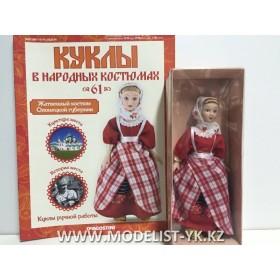 Куклы в народных костюмах №61 Кукла в жатвенном костюме Олонецкой губернии